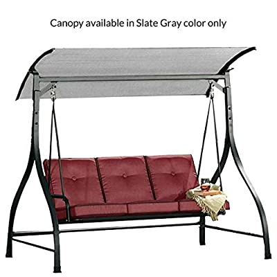 Garden Winds Replacement Canopy Top Cover for The Mission Ridge Sierra Vista Swing - Standard 350 - Slate Gray : Garden & Outdoor