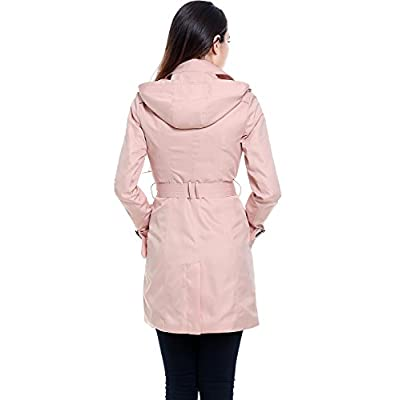 BGSD Women's Viv Waterproof Hooded Mid Length Trench Coat: Clothing