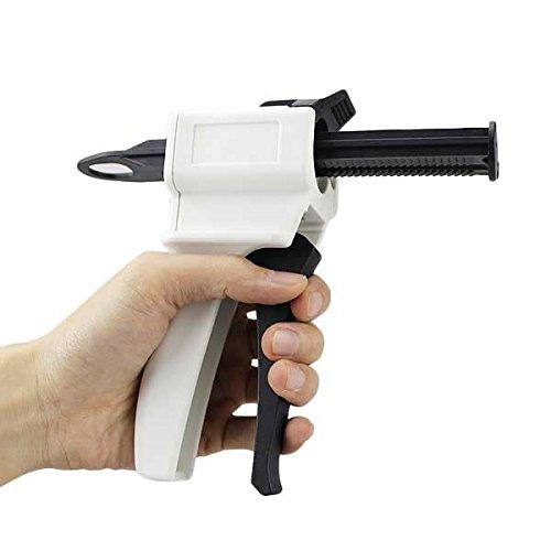 Airgoesin 10pcs 1:1 / 2:1 Ratio Dental Impression 50ml Mixing Dispenser Gun 135 Degree Autoclavable