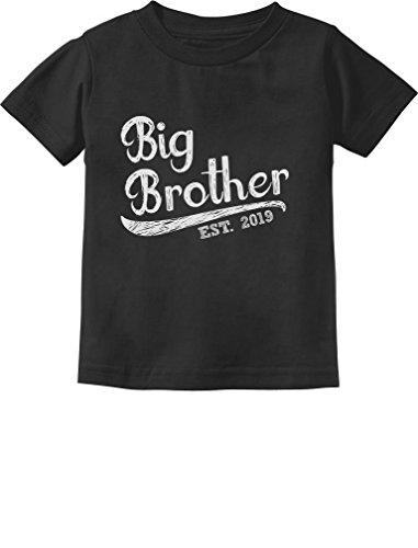 Tstars - Gift for Big Brother 2019 Siblings Gift Toddler Kids T-Shirt 3T Black