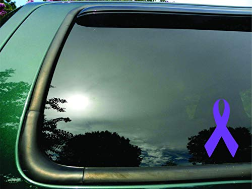 Ribbon Lavender Stomach Esophageal Cancer - Die Cut Vinyl Window Decal/sticker for Car or Truck 3.5