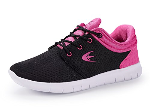 Fashion Breathable Trainer Absorbing Shoes Cross Shoe Fuscia Sneakers Walking Womens Shock Lightweight Running Sport Black Ezywear wAYtRqx