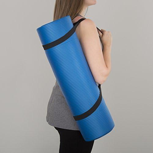 Wakeman Fitness - Esterilla de ejercicio para yoga (180 x 60 x 0,5 cm), color azul 5