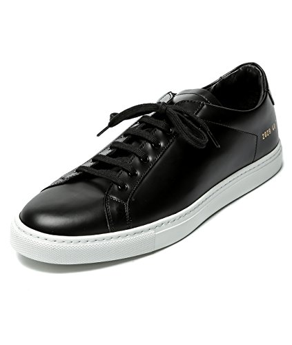 wiberlux-common-projects-mens-real-leather-round-toe-sneakers-40-black