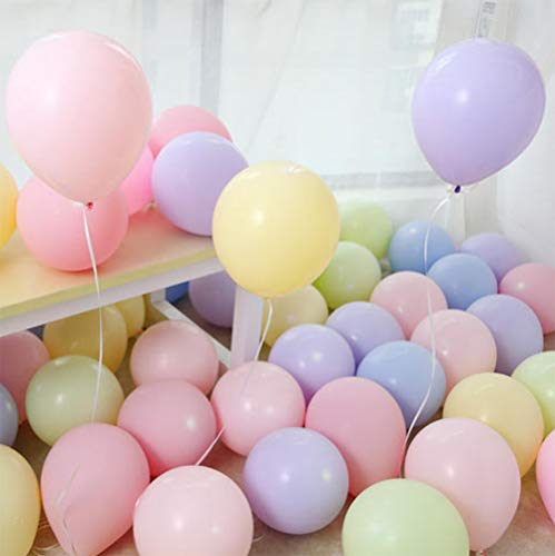 FALEYA.WZW 100pcs Pastel Latex Balloons for parties10 Inches