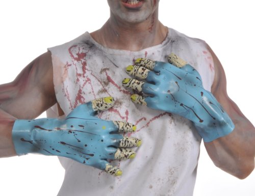 rubies-costume-zombie-shop-blue-molded-gloves-tan-blue-one-size