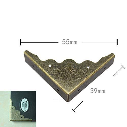 BIG-DEAL_Wholesale Bronze Tone Book Scrapbooking Albums Menus Corner Protectors Metal Bat Corners for Books,404010mm,Fit 10mm,200Pcs by BIG-DEAL