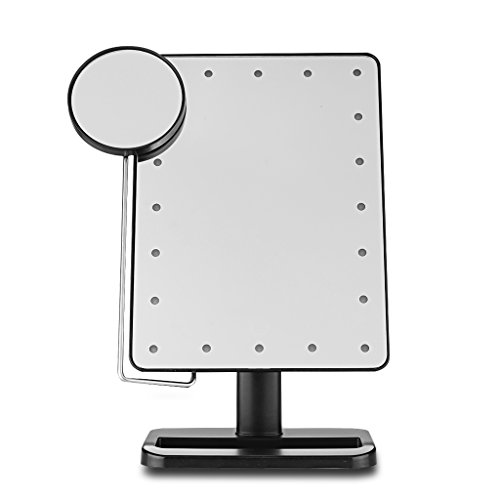 Ovonni 10X Magnifier LED Touch Screen Makeup Mirror Porta...