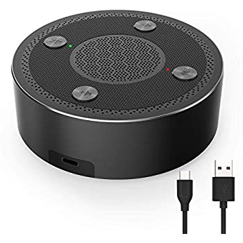 USB Conference Microphone NASUM 360 Omnidirectional Microphone for Computer and Video Conference 3M Pickup Range from PC Plug and Play Easy PC Mic with Mute Botton