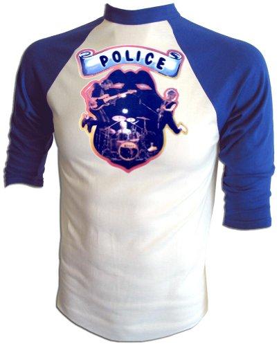 - Vintage Police Rock Concert First World Tour 1980 Promotional Press Jersey T-Shirt