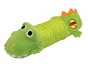 Stuffing Free Squeaking Plush Dog Toy, Big Squeak Gator by Petstages