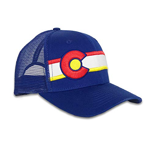 Colorado Limited Standard Issue Trucker Hat (Royal Blue) Unisex Mesh Back Cap with Adjustable Fit - Made for Ultimate Comfort & ()