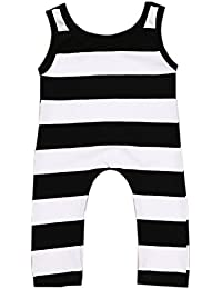 Toddler Unisex Baby Boys Girls Clothes Sleeveless Striped...