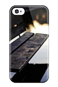 High Impact Dirt/shock Proof Case Cover For Iphone 4/4s (wooden Bench)
