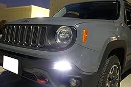 iJDMTOY (2) 6500K White LED Daytime Running Light Bulbs For 2015-up Jeep Renegade