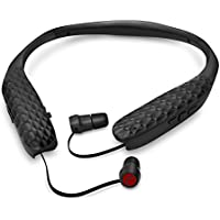 Lucid Audio AMPED HearBand Sound Amplifying Bluetooth Neckband Earbud Headphones - Black