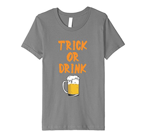 Kids Funny Alcoholic Halloween Trick or Drink TShirt 4 (Alcoholic Halloween Drinks)