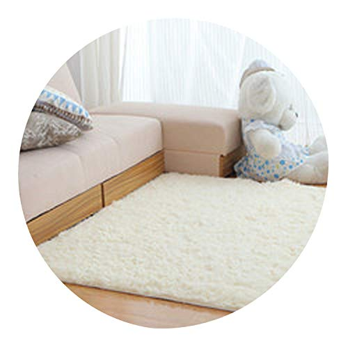 Fur Carpet for Living Room Floor Bathroom Hallway 3D Rugs for Home Bedroom Sheepskin Moderns Super Soft Long Mat,Code 4,80x120cm
