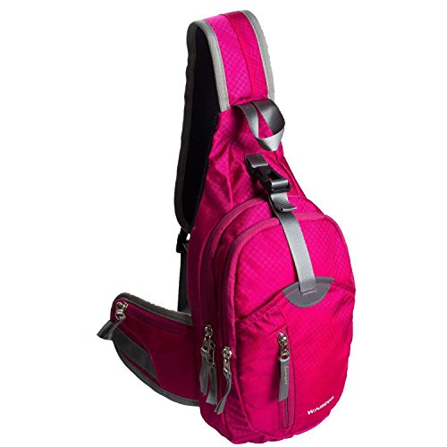 WASING Military Sport Pack Shoulder Sling Backpack Men Women Chest Gym Bag,Rover Sling Pack Chest Pack WS-ChestPack-rose - Best Type Sunglasses For Of Small Faces