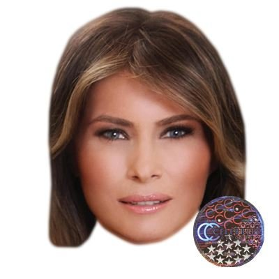 photograph about Donald Trump Mask Printable identify : Melania Trump Superstar Mask, Card Confront and
