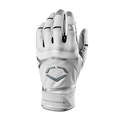 EvoShield Adult XGT Batting Gloves, White - Large