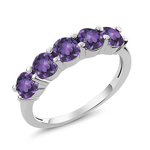 Natural Amethyst Gemstone Ring - 9