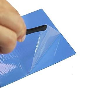 Smalloo 3Pcs 100x100x1mm Soft Silicone Thermal Conductive Pads Heatsink IC Chipset Northbridge for SSD/CPU/GPU/LED/IC/Raspberry Pi/Chipset Cooling