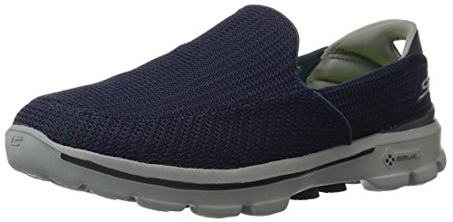 Skechers Performance Men's Go Walk 3 Slip-On Walking Shoe, Navy/Gray, 10 M US - Fully Padded Insole