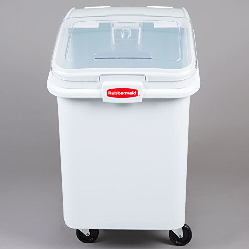 TableTop King FG360388WHT ProSave 30.8 Gallon Ingredient Storage Bin with 32 oz. Scoop by TableTop King