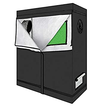 Plant Growing Tent Oxford Cloth /& PEVA High Reflective Silver Aluminum Foil Material LY-6060120cm Home Use Dismountable Hydroponic Plant Growing Tent with Window Green /& Black