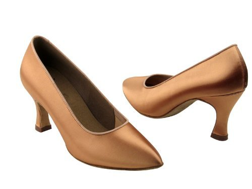 Ladies Women Ballroom Dance Shoes from Very Fine C6901 Series 2.75 Heel Flesh Satin ARfU6Csn