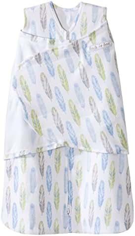 Halo Sleepsack 100% Cotton Swaddle, Feather Aloe, Newborn
