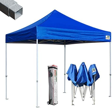 Eurmax 10 x10 Ez Pop-up Canopy Tent Commercial Instant Tent, Blue
