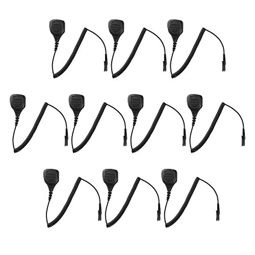 10 Pack Maxtop APM250-AX IP56 Rainproof Shoulder Mic Speaker Microphone for Motorola MOTOTRBO XPR3300 DP2400 DP2600 by MAXTOP