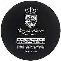 Royal Albert - Bálsamo de Crecimiento de Barba y Bigote SuperGrow - 100g - Libre de Sulfatos, Parabenos y Alcohol - Auxiliar en el Crecimiento de Barba y Bigote - Crecer Barba y Bigote - Crecimiento de Vello Facial - No Contiene Minoxidil