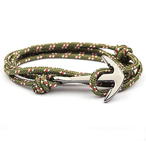 - Tea language Adjustable Men Anchor Bracelets Woman Charm Bracelets Survival Rope Chain Paracord Bracelets Bangles