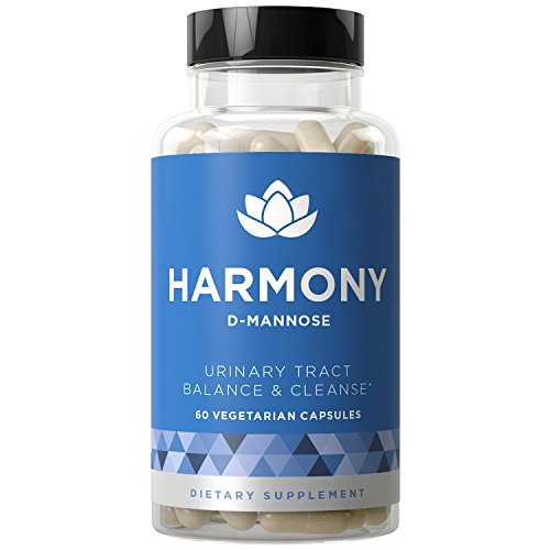 Harmony D-Mannose - Urinary Tract UT Cleanse & Bladder Health - Fast-Acting Detoxifying Strength, Flush Impurities, Clear System - Hibiscus Pills - 60 Vegetarian Soft -