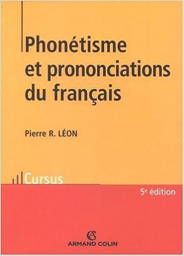 Livre Phonétisme et prononciations du français pdf