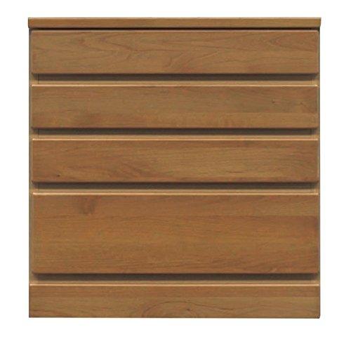 4段チェスト/ローチェスト 【幅60cm】 木製(天然木) 日本製 ブラウン 【完成品】 ds-1753270 B06XNKP1KH