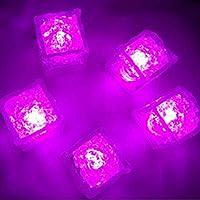 Houkiper IJsbloklamp, multicolor, lichtgevende ijsblokjes, LED, fluorescerende inductie, ijsklok, wijnglas, decoratie…