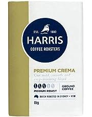 Harris Premium Blend Ground Coffee - Roasted in Sydney (1kg x 4 Packs)