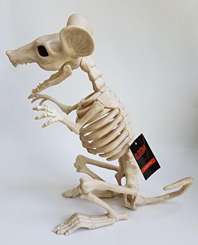 Gloom For Your Room 11.5 Inch Crazy Bones Giant Rat Skeleton Poseable Halloween Decoration -
