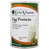 LuckyVitamin - Egg Protein Powder Natural Vanilla Flavor - 12 oz.