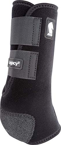 Classic Equine Legacy2 System Hind Boot (Solid), Black, Medium