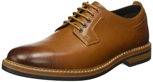 Marrone Cognac Leather Clarks Scarpe Stringate Pitney Uomo Walk qxnwaw4XS