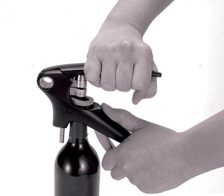 LE CREUSET LM350 Set de Regalo con sacacorchos Profesional y cortacápsulas Extracción del tapón en Botella de Vino, Poliamida, Negro