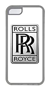 iPhone 5C Case, iPhone 5C Cases - Crystal Clear Protective Skin Case Cover for iPhone 5C Rolls Royce Motor Cars Logo Customized Design Rubber Back Case for iPhone 5C
