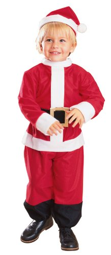 Lil' Santa Costume - Toddler 1-2 years, (Size 2-4 USA)