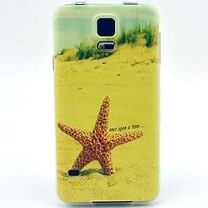 HJZ Yellow Starfish Pattern TPU Soft Case for S5 I9600