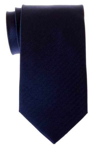 - Retreez Micro Herringbone Striped Woven Microfiber Men's Tie - Navy Blue